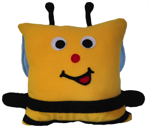 Šiji Polštářek Včelka (37 x 37 x 15 cm)